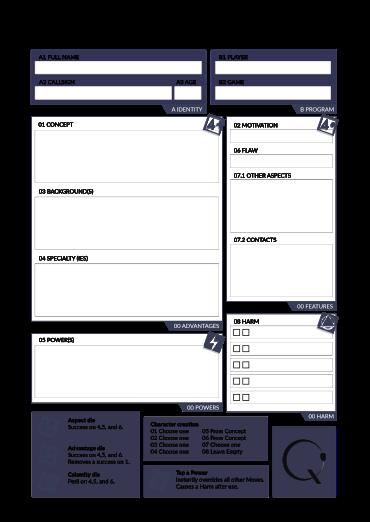 The Quick Character sheet DE 01Artboard 1